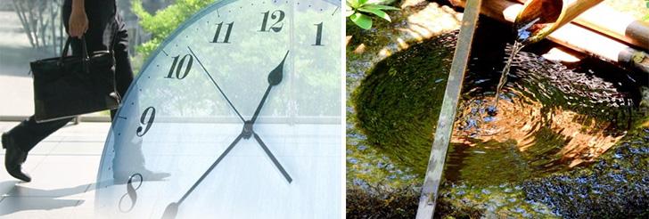 """""""流れる時間""""を感じながら・・・— 直線の時間と円い時間—"""