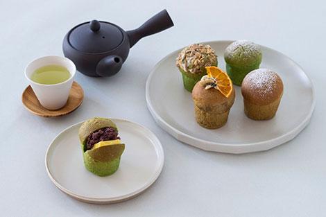 かわいい抹茶&ほうじ茶パンが食べられます
